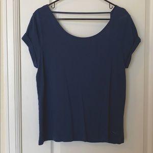PINK Backless Short Sleeve Shirt
